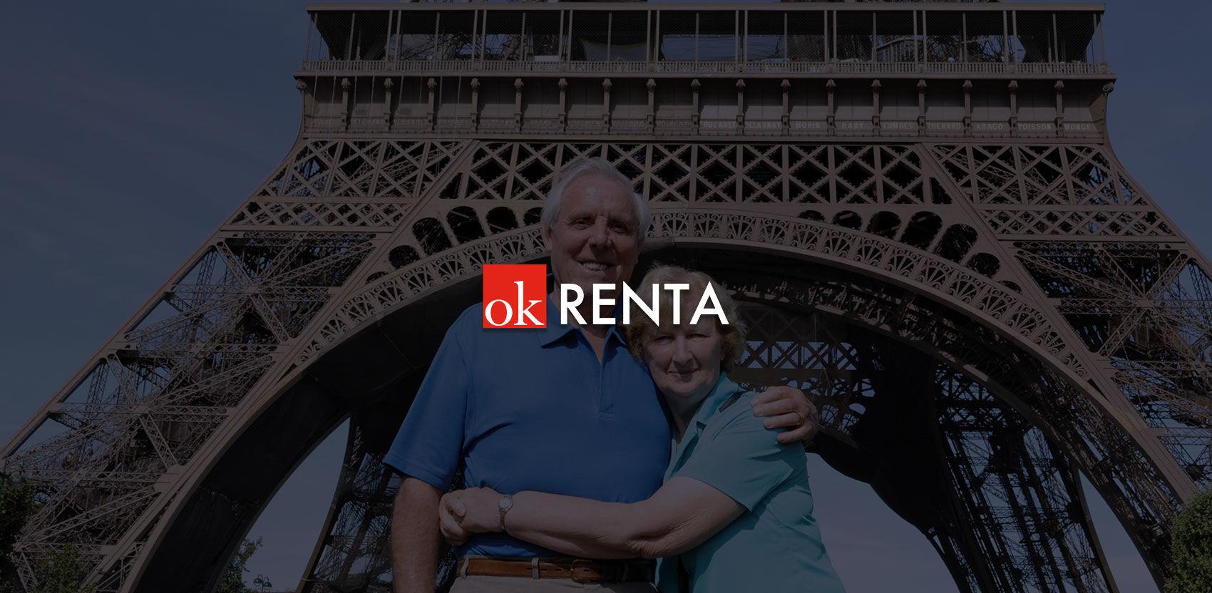 Prostredníctvom služby OKRenta si svoj vek dodochôdku zvolíte sami.</br></br>Chcete si určiť aj</br><strong>výšku mesačného príjmu?</strong>